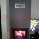 Eνεργειακό τζάκι-κασέτα ίσια και επένδυση με γυψοσανίδα ΤΕ200 e-tzaki.gr